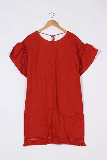 Robe mi-longue orange ANTHROPOLOGIE pour femme