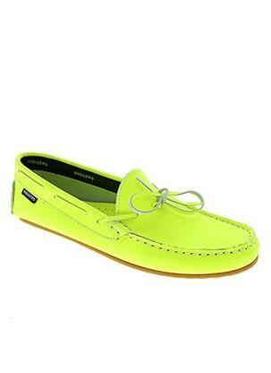 Chaussures bâteau jaune DIGGERS pour femme