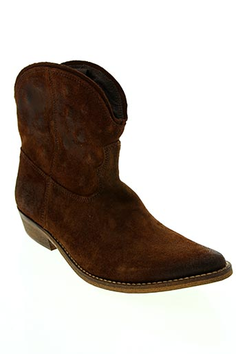 Bottines/Boots marron ETIK pour femme