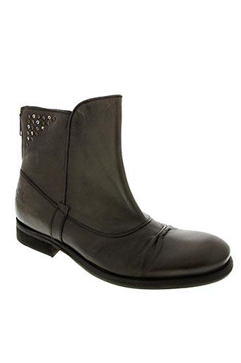 Bottines/Boots gris BUNKER pour homme