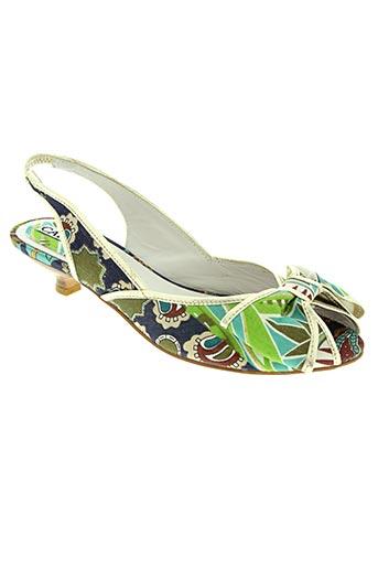 Sandales/Nu pieds vert CAFE NOIR pour femme