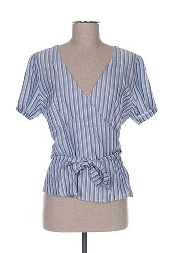 Blouse manches courtes bleu DEBY DEBO pour femme