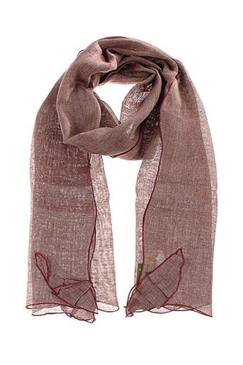 Foulard rose GANTEB'S pour femme