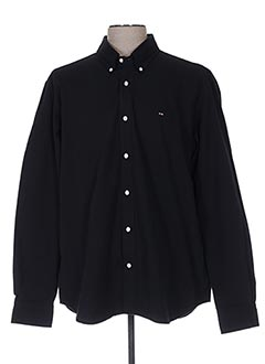 Chemise manches longues noir EDEN PARK pour homme
