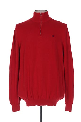 Pull col cheminée rouge HACKETT pour homme