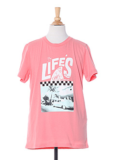 T-shirt manches courtes orange CAMPS UNITED pour garçon
