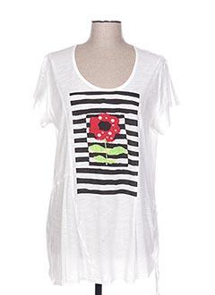 T-shirt manches courtes blanc OLIVER JUNG pour femme