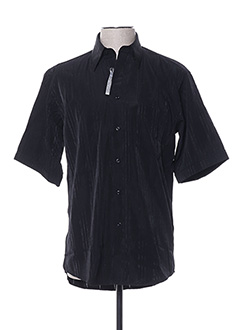 Chemise manches courtes noir GRIFFE NOIRE pour homme
