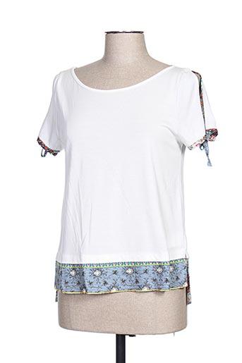 T-shirt manches courtes beige CAP JULUCA pour femme