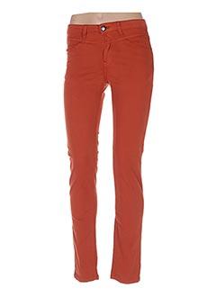 Pantalon casual orange MENSI COLLEZIONE pour femme