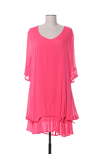 Robe mi-longue rose DRESS ADDICT pour femme