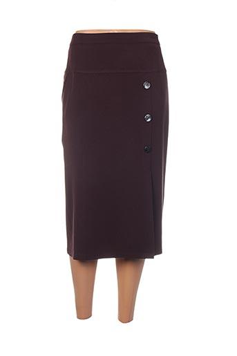 Jupe mi-longue rouge ELSSA pour femme