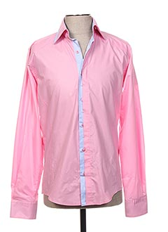 Chemise manches longues rose EYES pour homme