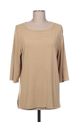T-shirt manches longues beige BAGORAZ pour femme