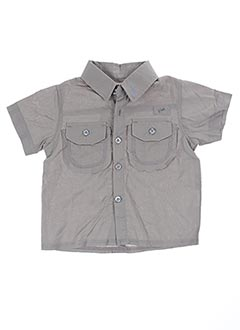 Chemise manches courtes gris GRAIN DE BLÉ pour garçon