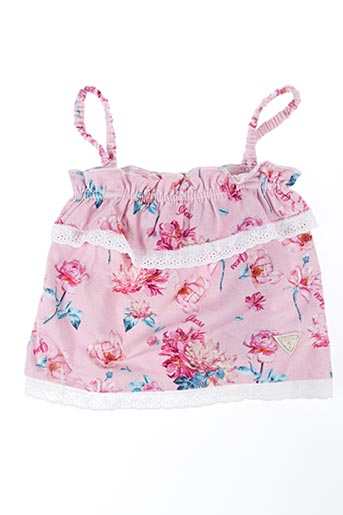 Top rose GUESS pour fille
