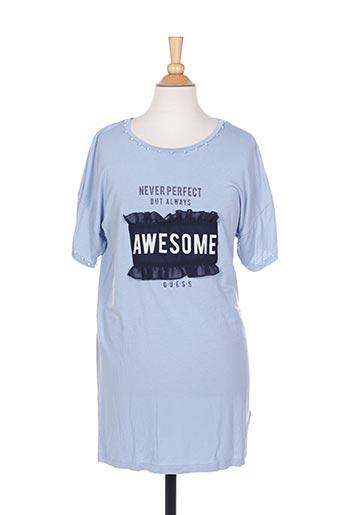 Tunique manches courtes bleu GUESS pour fille