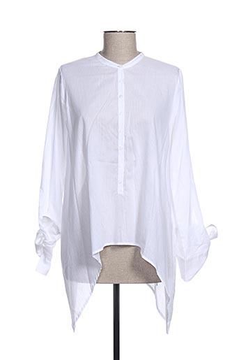 Tunique manches longues blanc HANA SAN pour femme