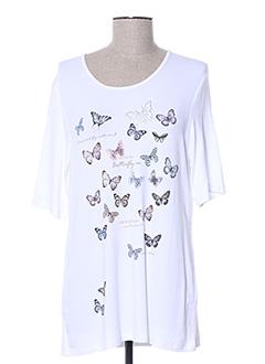 T-shirt manches courtes blanc ERFO pour femme
