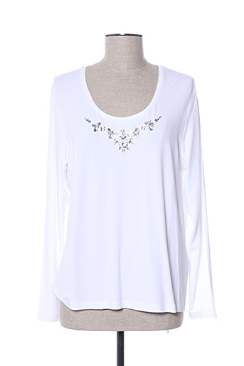 T-shirt manches longues blanc HAUBER pour femme
