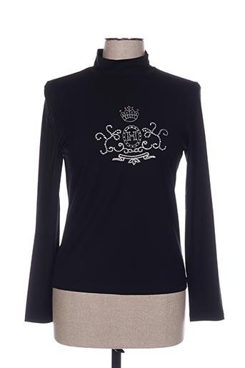 T-shirt manches longues noir HAUBER pour femme