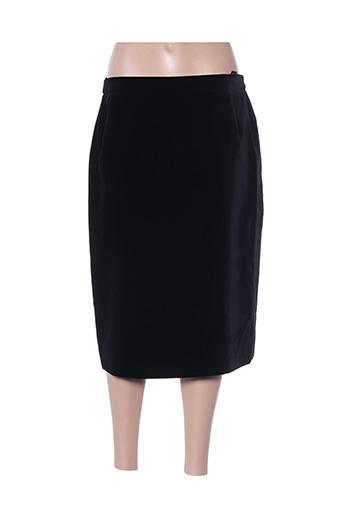 Jupe mi-longue noir HERMANN pour femme