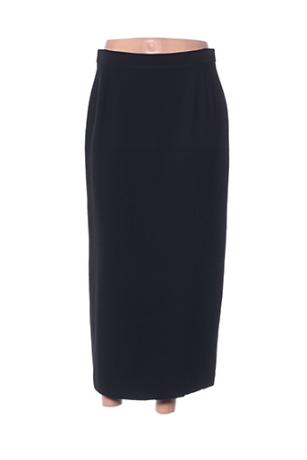 Jupe mi-longue noir ELSA MAHR pour femme