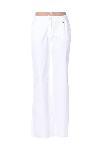 Pantalon casual blanc HAUBER pour femme