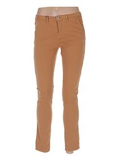 Pantalon casual marron SCHOOL RAG pour femme