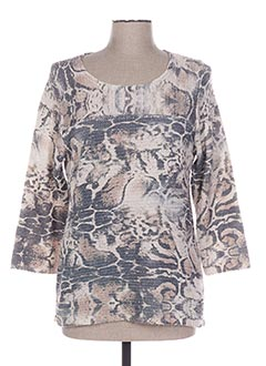 Pull col rond beige CHICHKOYAN pour femme