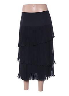 Jupe mi-longue noir ATIAN pour femme