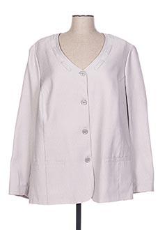 Veste casual gris FRANCE RIVOIRE pour femme