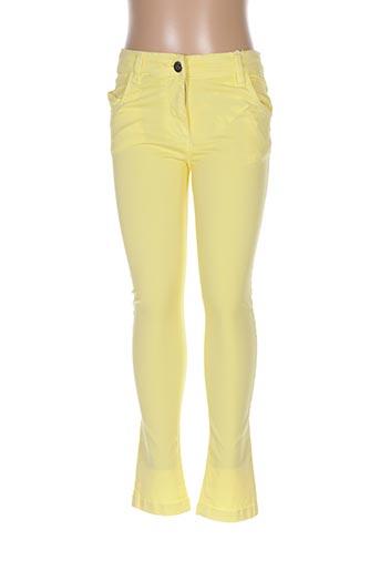 Pantalon casual jaune LOSAN pour fille