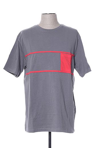 T-shirt manches courtes gris GIORGIO BELLINI pour homme