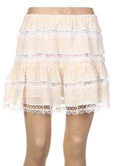 Jupe courte beige VALERIE KHALFON pour femme