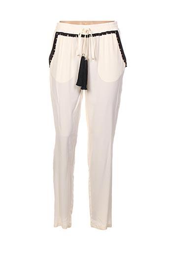 Pantalon casual beige CAVALLI pour femme