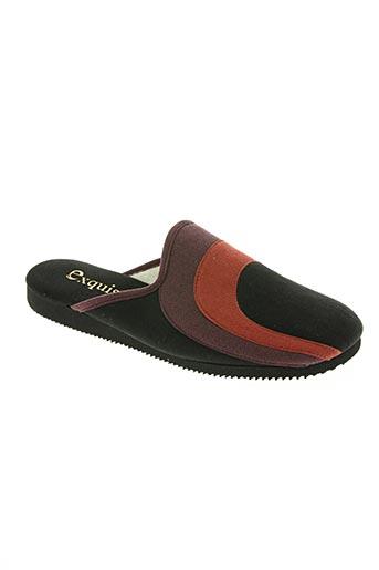 Chaussons/Pantoufles noir EXQUISE pour femme