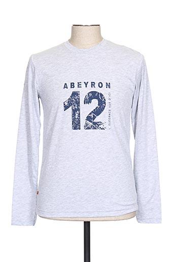 T-shirt manches courtes gris ABEYRON pour homme