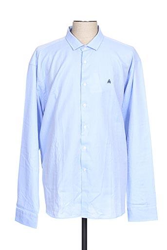 Chemise manches longues bleu ABEYRON pour homme