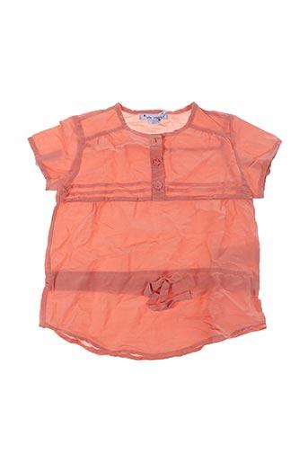 Blouse manches courtes orange MON MARCEL pour fille