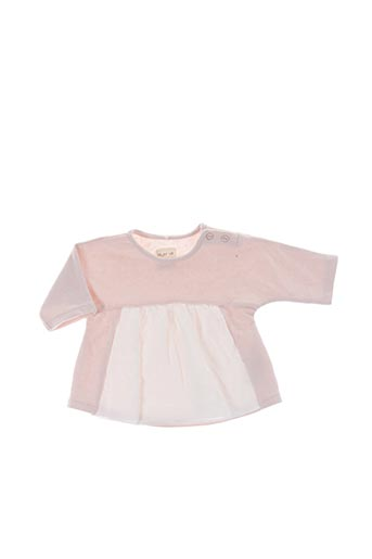 Pull col rond rose PLAY'UP pour fille
