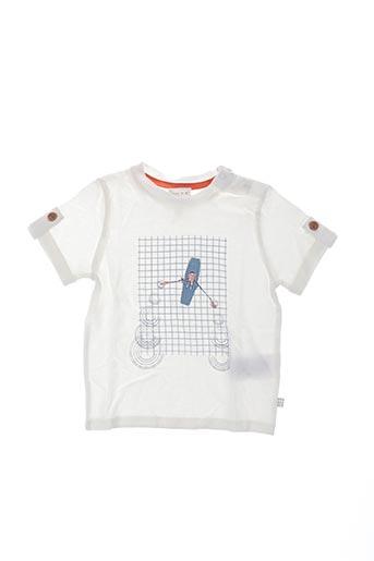 T-shirt manches courtes blanc CARREMENT BEAU pour enfant