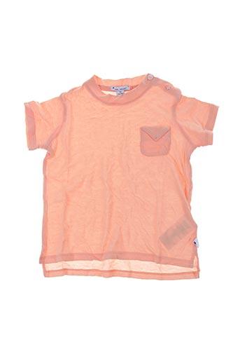 T-shirt manches courtes orange MON MARCEL pour enfant