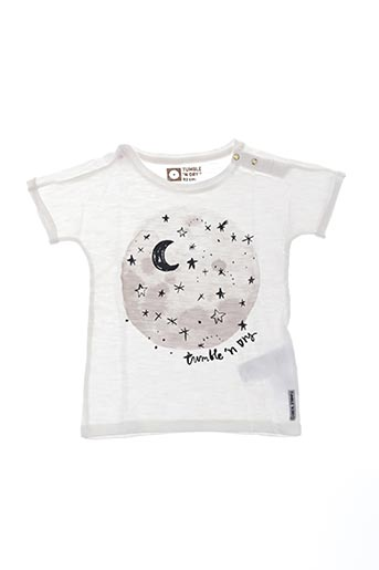 T-shirt manches courtes blanc TUMBLE'N DRY pour fille