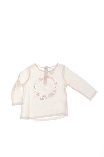 T-shirt manches longues beige CARREMENT BEAU pour fille