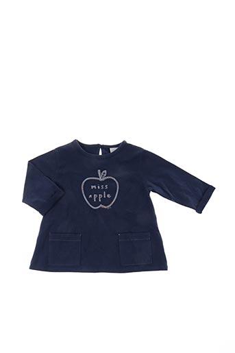 T-shirt manches longues bleu PLAY'UP pour fille
