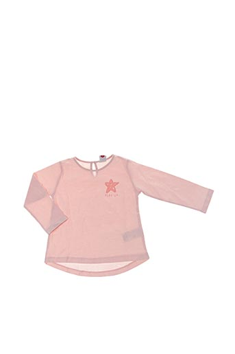 T-shirt manches longues rose PLAY'UP pour fille