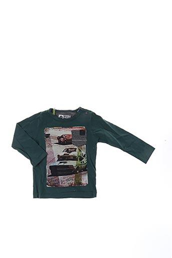 T-shirt manches longues vert TUMBLE'N DRY pour garçon