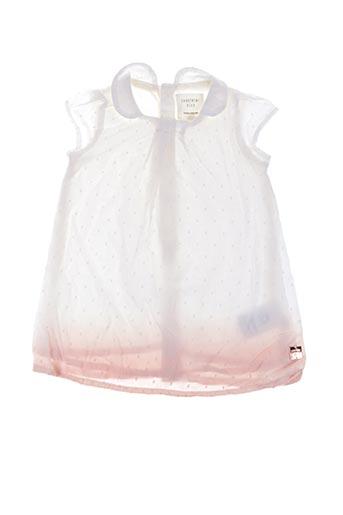 Robe mi-longue blanc CARREMENT BEAU pour fille