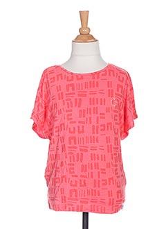 T-shirt manches courtes rouge TUMBLE'DRY pour fille